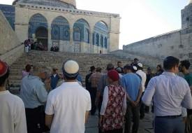 """مستوطنون يقتحمون """"ساحات الأقصى"""" بحراسة شرطة الاحتلال"""